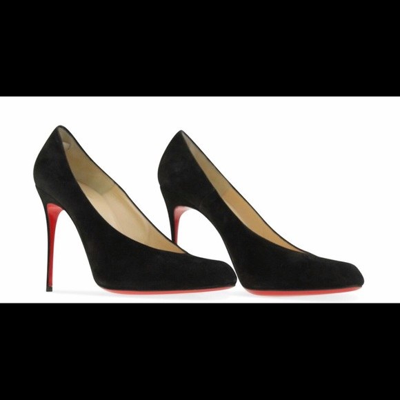 pretty nice 9e0dd a93b9 Christian Louboutin Black Suede Pumps